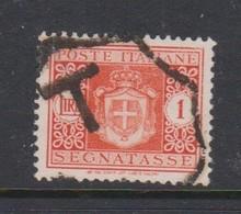 Italy PD 81 1945 Lieutenance  Postage Due,lire 1 Orange,no Watermark,used - Postage Due