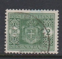Italy PD 82 1945 Lieutenance  Postage Due,lire 2 Green,no Watermark,used - Postage Due
