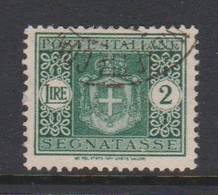 Italy PD 93 1945 Lieutenance  Postage Due,lire 2 Green,used - Postage Due