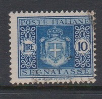 Italy PD 95 1945 Lieutenance  Postage Due,lire 10 Blue,used - Postage Due