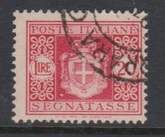 Italy PD 96 1945 Lieutenance  Postage Due,lire 20 Carmine,used - Postage Due