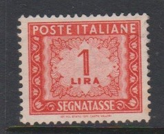 Italy PD 97 1947-54 Republic  Postage Due,watermark Flying Wheel,lire 1,used - Postage Due