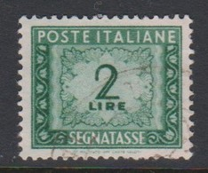Italy PD 99 1947-54 Republic  Postage Due,watermark Flying Wheel,lire 2 Green,used - Postage Due