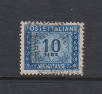 Italy PD 104 1947-54 Republic  Postage Due,watermark Flying Wheel,lire 10 Blue,used - Postage Due