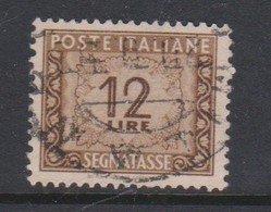 Italy PD 105 1947-54 Republic  Postage Due,watermark Flying Wheel,lire 12 Brown,used - Postage Due