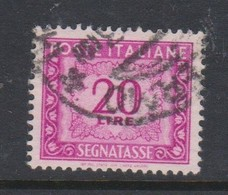 Italy PD 106  1947-54 Republic  Postage Due,watermark Flying Wheel,lire 20 Lilac Rose,used - Postage Due