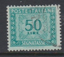 Italy PD 108 1947-54 Republic  Postage Due,watermark Flying Wheel,lire 50 Green,used - 1878-00 Humbert I.