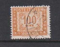 Italy PD 109  1947-54 Republic  Postage Due,watermark Flying Wheel,lire 100 Orange Yellow,used - 1878-00 Humbert I.