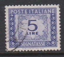 Italy PD 111  1955-81 Republic  Postage Due,watermark Stars,lire 5 Violet,used - 1878-00 Humbert I.