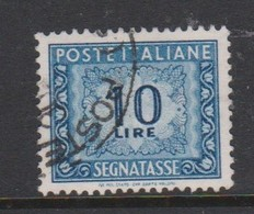 Italy PD 113  1955-81 Republic  Postage Due,watermark Stars,lire 10 Blue,used - Postage Due