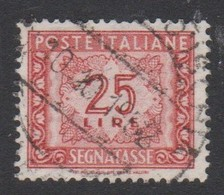 Italy PD 115  1955-81 Republic  Postage Due,watermark Stars,lire 25 Red Brown,used - 1878-00 Humbert I.