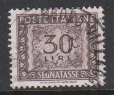 Italy PD 116  1955-81 Republic  Postage Due,watermark Stars,lire 30 Gray,used - Postage Due