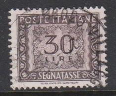 Italy PD 116  1955-81 Republic  Postage Due,watermark Stars,lire 30 Gray,used - 1878-00 Humbert I.