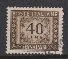 Italy PD 117  1955-81 Republic  Postage Due,watermark Stars,lire 40 Brown,used - Postage Due