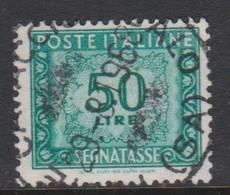 Italy PD 118  1955-81 Republic  Postage Due,watermark Stars,lire 50 Aqua,used - 1878-00 Humbert I.