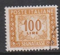 Italy PD 119  1955-81 Republic  Postage Due,watermark Stars,lire 100 Orange Yellow,used - Postage Due
