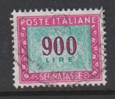 Italy PD 124 1984 Republic  Postage Due,watermark Stars,lire 900 Carmine And Green,used - Postage Due
