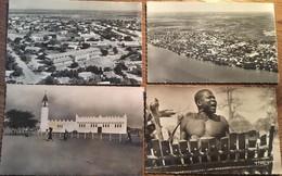 4 CPA Cpsm, Tchad, Fort-Lamy, Vue Générale, Place De La Mosquée,, Joueur De Balafon - Chad