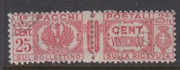 Italy PP 26 1927-32 King Victor Emanuel ,parcel Post, 25c Red,Used - 1878-00 Humbert I.