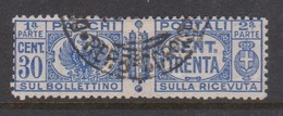 Italy PP 27 1927-32 King Victor Emanuel ,parcel Post, 30c Ultra,Used - 1878-00 Humbert I.