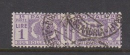 Italy PP 30 1927-32 King Victor Emanuel ,parcel Post, Lire 1 Violet,Used - 1878-00 Umberto I