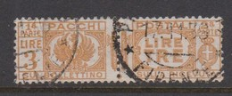 Italy PP 32 1927-32 King Victor Emanuel ,parcel Post, Lire 3 Yellow,Used - 1878-00 Umberto I