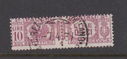 Italy PP 34 1927-32 King Victor Emanuel ,parcel Post, Lire 10 Rose Lilac,Used - 1878-00 Umberto I