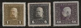 Autriche-Hongrie 1915-1917 N°Y.T. :  22,26 Et 46 * - 1850-1918 Empire