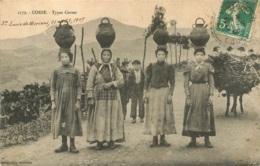 TYPES CORSES ECRITE DE SAINTE LUCIE DE MORIANI EN 1909 - France