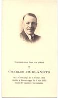 Devotie Devotion Doodsprentje Image Mortuaire - Charles Roelandts - Oostkamp 1894 - Steenbrugge 1952 - Décès