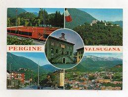 Pergine Valsugana (Trento) - Cartolina Multipanoramica - Viaggiata Nel 1985 - (FDC16583) - Trento