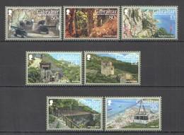 CC728 GIBRALTAR ARCHITECTURE UPPER ROCK NATURE #1819-25 MICHEL 15.5 EURO SET MNH - Ferien & Tourismus