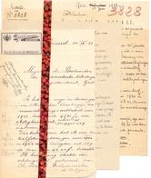 Brief Lettre - Apotheker L. Herrebaut Brussel - Naar Kadaster 1923 - Ivm Eigendom Te Adegem - Vieux Papiers