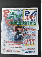 60200 COMPIEGNE - AFFICHE VTT RAID IMPERIAL En 2001 - Cyclisme