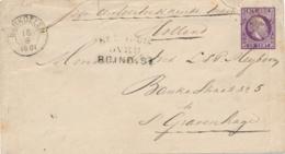 Nederlands Indië - 1881 - 5 Cent Willem III, Envelop G3 Van KR En Puntstempel BENKOELEN Via Brindisi Naar Den Haag - Nederlands-Indië