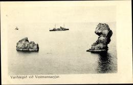 Cp Vestmannaeyjar Island, Varðskipið, Schiff Der Küstenwache, Felsen - Islande