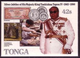 TONGA Cromalin Proof 1990 - King And Tonga Money - Coins - 5 Exist - Monete