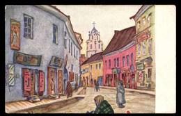 LITUANIE, Vilnius, Ulica W. Wilnie, édition Croix-Rouge, État Balte - Lituanie