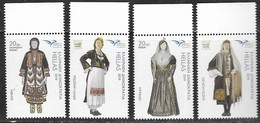 GREECE, 2019, MNH, EUROMED,COSTUMES OF THE MEDITERRANEAN, 4v - Costumes
