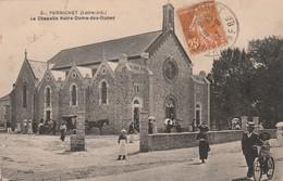 Rare Cpa Pornichet La Chapelle Notre Dame Des Dunes Très Animée - Pornichet