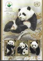 UN, 2019, MNH, CHINA EXHIBITION 2019, FAUNA, PANDAS, SHEETLET - Bears