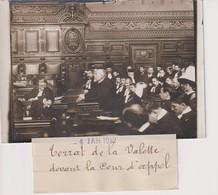 1912 TERRAT DE LA VALETTE COUR D'APPEL 12*8CM Maurice-Louis BRANGER PARÍS (1874-1950) - Fotos