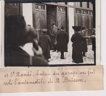 SAINT ST MANDE ENTRÉE DU GARAGE OU FUIT VOLE L'AUTOMOBILE DE M BUISSON 13*9CM Maurice-Louis BRANGER PARÍS (1874-1950) - Lieux