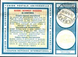 6722B) FRANCOBOLLI Coupon Reponse International 60 C. Mod. C22 Svizzera 1970 Suisse-USATO - Non Classificati