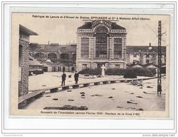 MAISONS ALFORT - Fabrique De Levure Springer - Souvenir De L'inondation Janvier 1910 - Très Bon état - Maisons Alfort