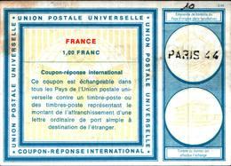 6724B) FRANCOBOLLI Coupon Reponse International 1F.. Mod. C22 FRANCIA 1972 -USATO - Francia