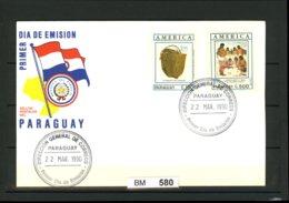 Paraguay Sonderbeleg 1990 - Archäologie