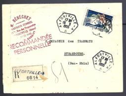 RECOMMANDÉ EN PROVENANCE DE ALFORTVILLE - 1955 - THÈME ASSURANCES - TRAMWAYS - ACCIDENT - - France