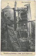 CPA SARREBOURG - Alte Reichsbank - Beschiessung Saarburg I. Lothr. Am 20 August 1914 - Sarrebourg