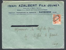 LETTRE EN PROVENANCE DE NARBONNE - AUDE - TIMBRE 4F MARIANNE DE GANDON PRÉOBLITÉRÉ - Vorausentwertungen